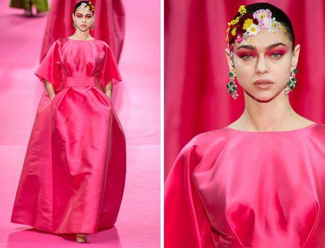 Alexis Mabille 2019 İlkbahar Yaz Couture Koleksiyonu Pembe Kabarık Elbise