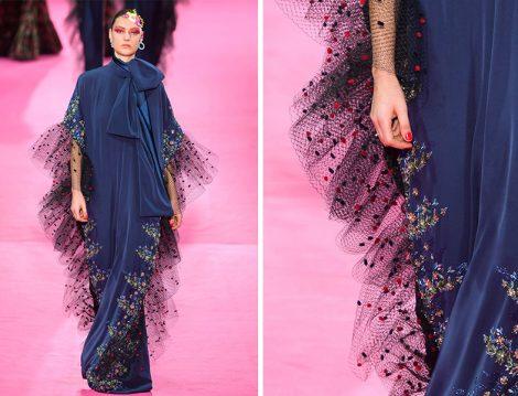Alexis Mabille 2019 İlkbahar Yaz Couture Koleksiyonu Tül Detaylı Elbise Modeli