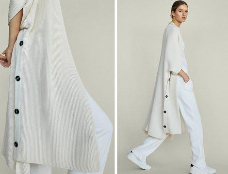 Beyaz Uzun Hırka ve Beyaz Pantolon Kombini