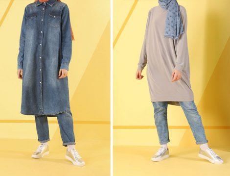 HE-QA 2019 İlkbahar Yaz Koleksiyonu Denim ve Basic Tunikler