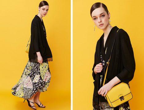 Ipekyol İlkbahar 2019 Koleksiyonu Siyah Ceket ve Desenli Elbise