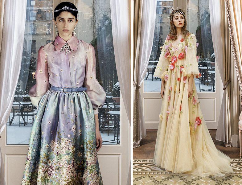 Luisa Beccaria 2019 İlkbahar Yaz Couture Koleksiyonu Çiçekli Elbise