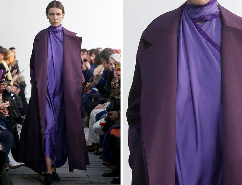 Maison Rabih Kayrouz 2019 İlkbahar Yaz Couture Koleksiyonu Saten Dokulu Elbise