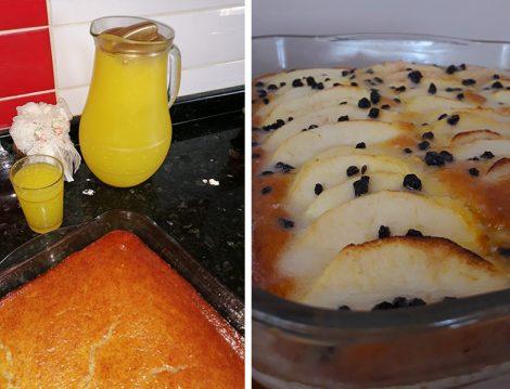 Portakallı ve Elmalı Kek Tarifi