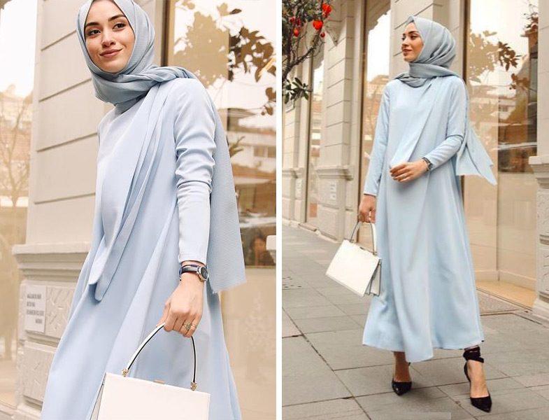 Qras Studio Mavi Elbise