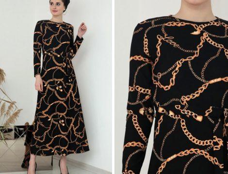 Selma Sarı Design Siyah Elbise