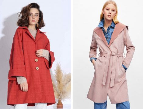 Suud Collection Keten Trençkot - Zara Süet Trençkot