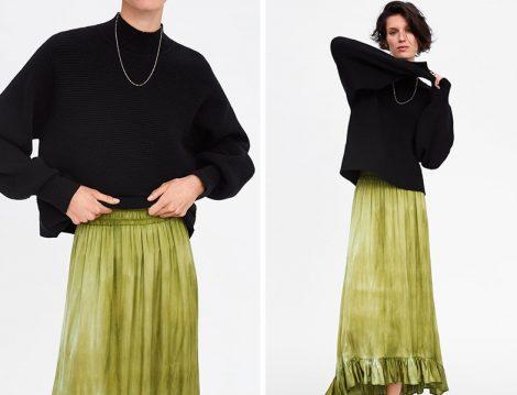 Zara Batik Baskılı Etek