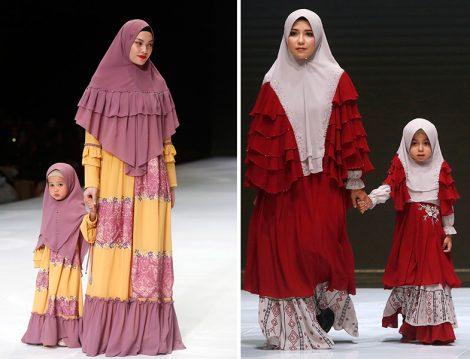2019 Endonezya Moda Haftası Tesettür Anne - Kız Kıyafetleri