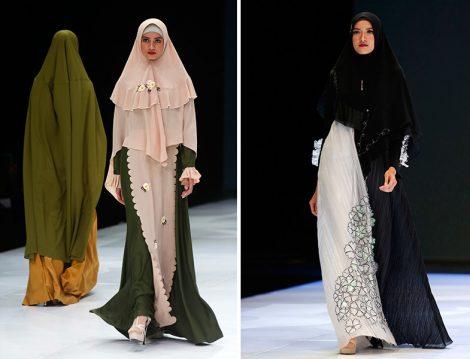 2019 Endonezya Moda Haftası Tesettür Giyim Defilesi
