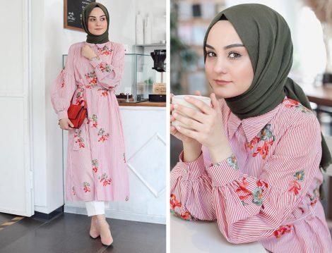 He-Qa Floral Desenli Tunik