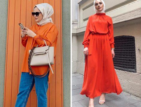 Kadriye Baştürk Mercan Rengi Elbise ve Tunik Modeli