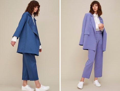 Kevser Sarıoğlu 2019 İlkbahar Yaz Ceket Pantolon Takım