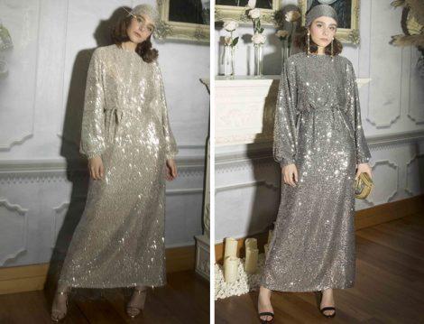 Suud Collectıon Payetli Elbise