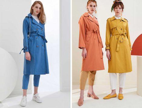 Vesna Design 2019 İlkbahar Yaz Renkli Trençkot Modelleri