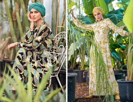 Alvina 2019 İlkbahar&Yaz Koleksiyonu Desenli Elbise Modelleri