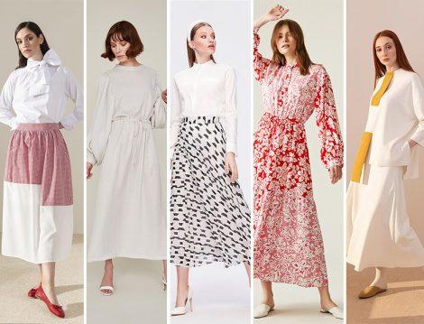 Bayrama Özel Tesettür Elbise ve Etek Modelleri