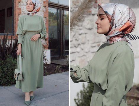 Elif Eser Yeşil Elbise