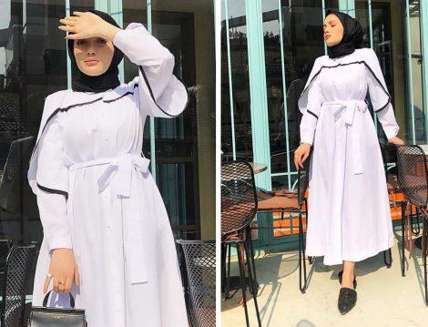Hooop Store Beyaz Elbise