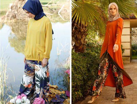 Setrms 2019 İlkbahar Yaz Desenli Bol Pantolon ve Tunik Modelleri