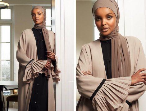 Siyah Elbise & Toprak Tonlu Kimono & Krep Şal