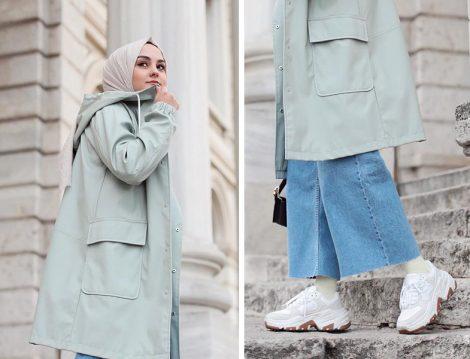 Zara Su Yeşili Kapüşonlu Ceket