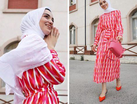 Özsarıçam Desenli Elbise