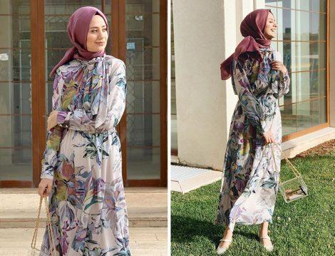 Aybüke Nur Demirci Çiçek Desenli Elbise Kombinleri