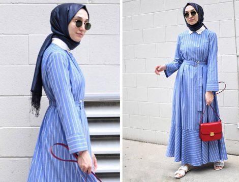 Elif Doğan Marin Stil Elbise Kombini