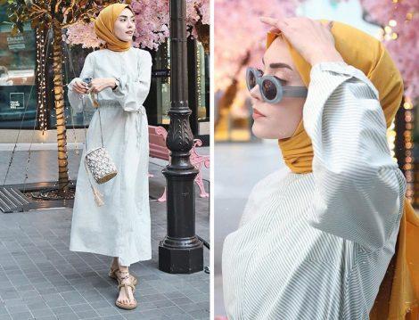 Fuga Design Elbise ve Freshcarfs Pamuklu Şal
