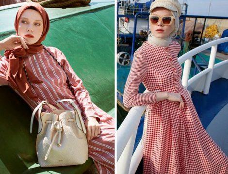 Nihan Giyim Tesettür Elbise Modelleri