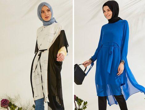 Zühre Giyim Şifon Parçalı Tunik Modelleri