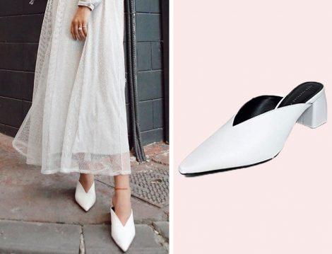 Akışkan Elbiselerle Topuklu Mule Ayakkabı Kombini