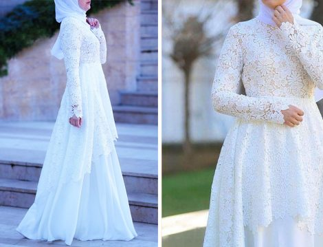 Annah Hariri Dantel Abiye Elbise