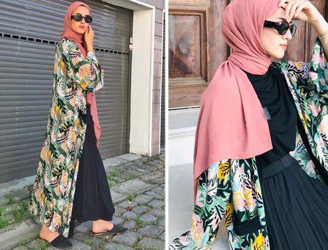 Meve Selin Kaleli Desenli Kimono