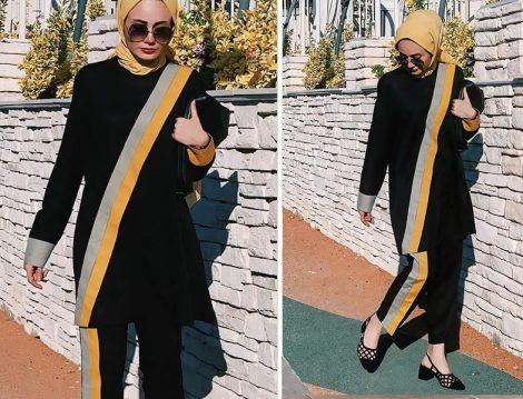 Muaj Design Siyah İkili Takım