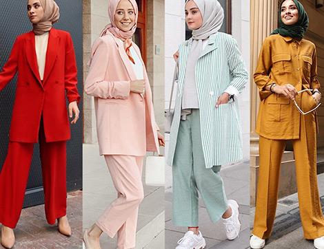 Tesettürlü Kadının Ofis Stiline Yaz Dokunuşu: Renkli Takımlar