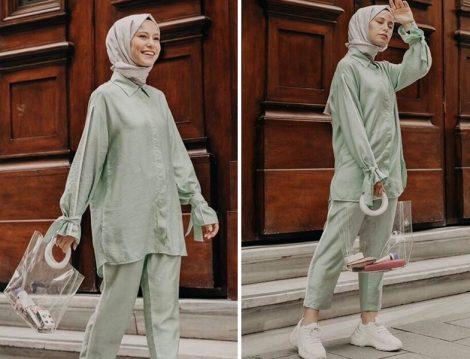 BRTC Design Mint Tunik Pantolon İkili Takım