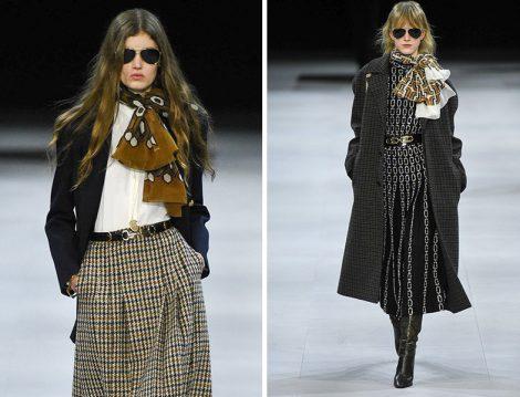 Celine Midi Etek-Blazer Ceket ve Celine Elbise-Maksi Boy Ekose Palto