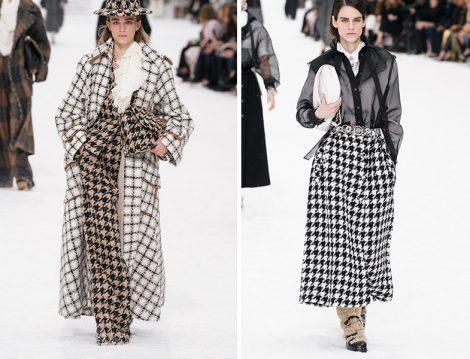 Chanel Balık Sırtı Manto - Kaz Ayağı Desen Etek ve Pantolon