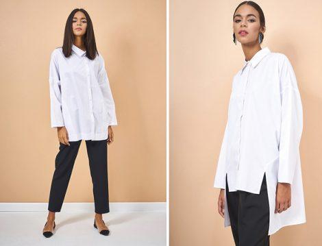 Eda Atalay Beyaz Basic Gömlek