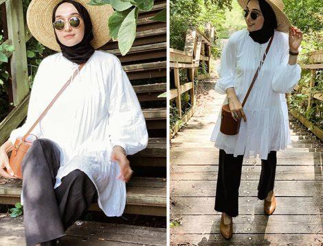 H&M Beyaz Uzun Gömlek