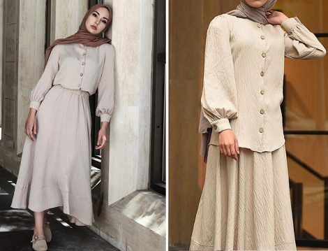 Hooop Store Bej Etek & Bluz Takım