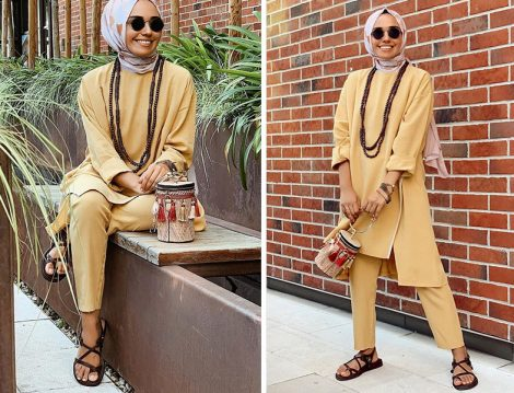 Qooq Store Sarı Tunik Pantolon kili Takım