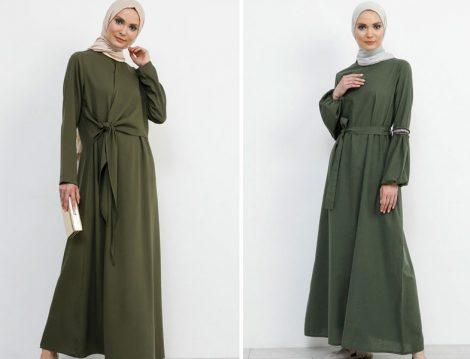 Refka Haki Yeşil Elbise