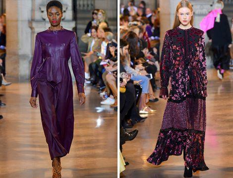Talbot Runhof Düz Renk ve Desenli Elbise