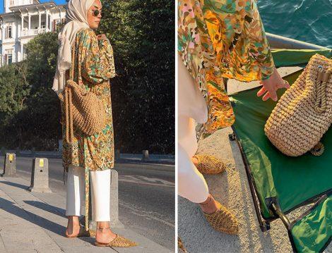 Touche Kimono - Zara Terlik - Örgü Çanta Kombini