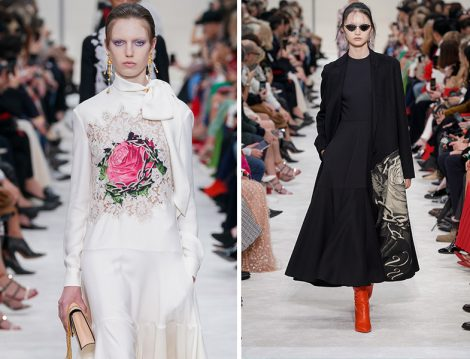 Valentino Gül Desen Detaylı Elbise