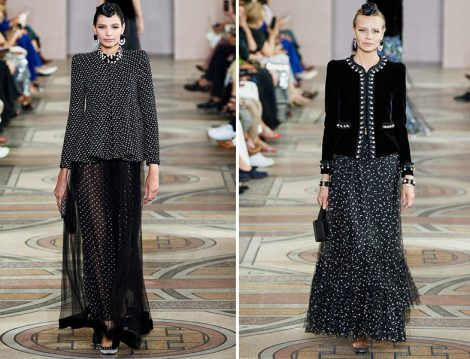 Armani Privé 2019 Couture Puantiyeli Etek ve Ceket