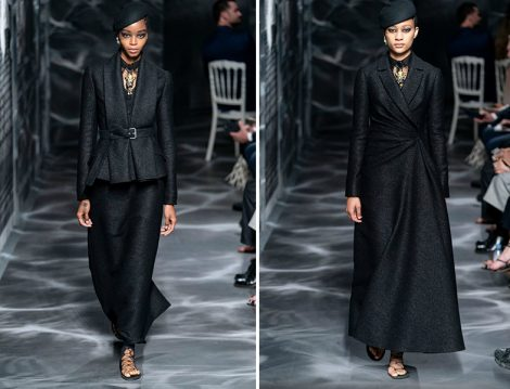 Christian Dior 2019 Couture Siyah Takım ve Elbise